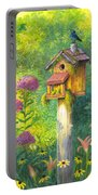 Bird House And Bluebird  Portable Battery Charger