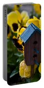 Bird House And Pansey Portable Battery Charger