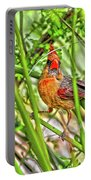 Bird In The Brush H D R Portable Battery Charger