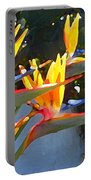 Bird Of Paradise Backlit By Sun Portable Battery Charger