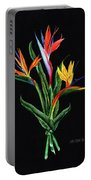 Bird Of Paradise In Black Portable Battery Charger