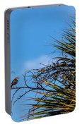 Bird On A Palm Branch Portable Battery Charger