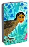 Bird People Blackbird And Worm Portable Battery Charger