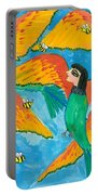 Bird People Little Green Bee Eaters Of Upper Egypt Portable Battery Charger