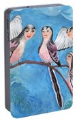 Bird People Long Tailed Tits Portable Battery Charger