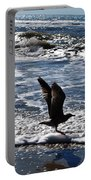 Bird Taking Flight On The Shore Portable Battery Charger