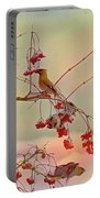 Bird Waxwing Portable Battery Charger