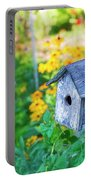 Birdhouse And Flowers Portable Battery Charger
