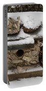 Birdhouse In The Snow Portable Battery Charger