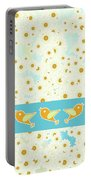 Birds And Daisies Portable Battery Charger