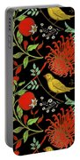 Birds And Flowers Portable Battery Charger