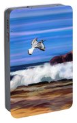 Birds Coastline Waves Portable Battery Charger