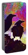 Birds Crow Black  Portable Battery Charger