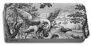 Birds Fighting From Musaeum Hermeticum, 1678 Portable Battery Charger