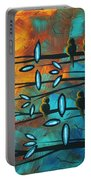 Birds Of Summer By Madart Portable Battery Charger