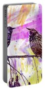 Birds Stare Nature Songbird  Portable Battery Charger