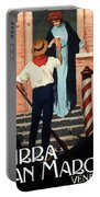 Birra San Marco, Venezia, Italy - Woman With Beer Glass - Retro Travel Poster - Vintage Poster Portable Battery Charger
