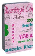 Birth Announcement Portable Battery Charger