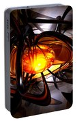 Birth Of A Sun Abstract Portable Battery Charger