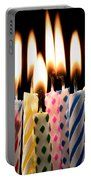 Birthday Candles Portable Battery Charger by Garry Gay