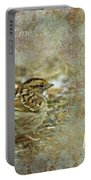 Birthday Greeting Card - White-throated Sparrow Songbird Portable Battery Charger
