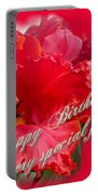 Birthday Special Friend - Red Parrot Tulip Portable Battery Charger