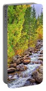 Bishop Creek In Autumn Portable Battery Charger