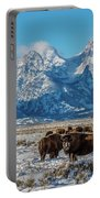 Bison At The Tetons Portable Battery Charger