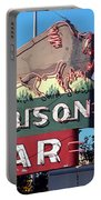 Miles City Montana - Bison Bar Portable Battery Charger