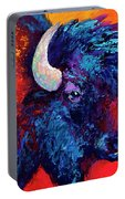 Bison Head Color Study II Portable Battery Charger