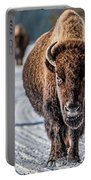 Bison In The Road - Yellowstone Portable Battery Charger
