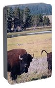 Bison In Yellowstone Portable Battery Charger
