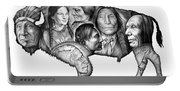 Bison Indian Montage Portable Battery Charger
