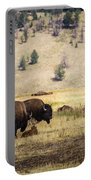 Bison With Calf Portable Battery Charger