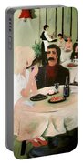 Bistro Mural Detail 1 Portable Battery Charger