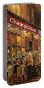 Bistrot Champollion Portable Battery Charger by Guido Borelli