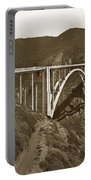 Bixby Creek Aka Rainbow Bridge Bridge Big Sur Photo  1937 Portable Battery Charger