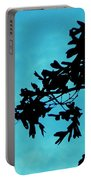 Black And Blue Silhouette Portable Battery Charger