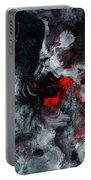 Black And Red Abstract Painting  Portable Battery Charger