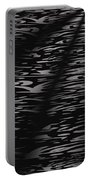 Black And White Abstract Portable Battery Charger