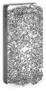 Black And White Abstract Background Portable Battery Charger