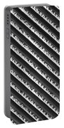 Black And White Abstract Lines Portable Battery Charger