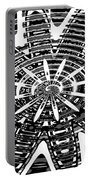 Black And White Abstracts Portable Battery Charger
