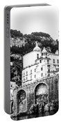 Black And White Amalfi Portable Battery Charger