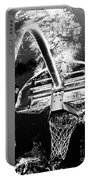 Black And White Basketball Art Portable Battery Charger