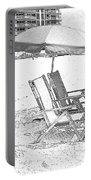 Black And White Beach Chairs Portable Battery Charger