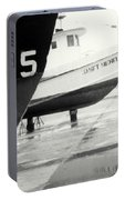 Black And White Boat Reflection Portable Battery Charger