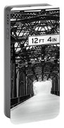 Black And White Bridge Portable Battery Charger