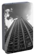 Black And White Brutalist Barbican Portable Battery Charger