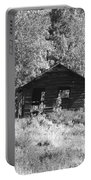 Black And White Cabin Portable Battery Charger